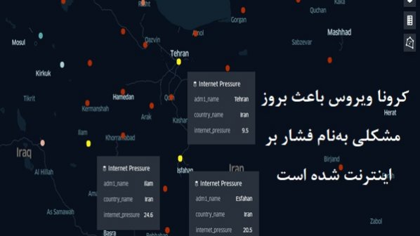 ویروس کرونا و نقشه فشار بر اینترنت