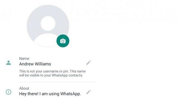 در واتساپ پروفایل بسازید