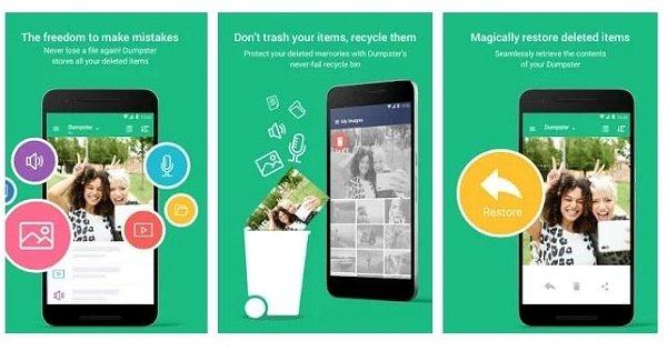 تطبيق Dumpster Trash لنظام Android