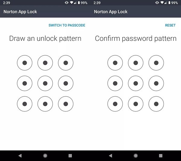 How to set passwords on Android using Norton App Lock for apps