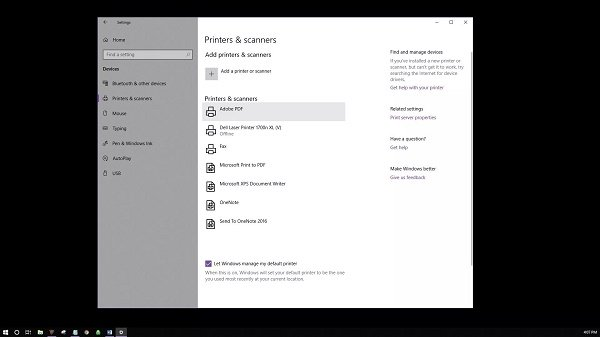 How to clear the print queue through Windows Settings