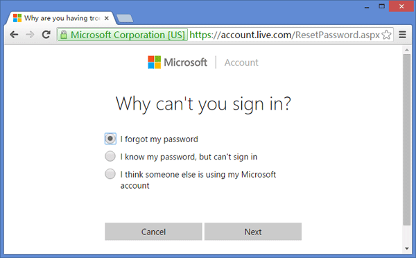 با استفاده از Microsoft Account Password پسورد ویندوز 10 را بهصورت آنلاین ریست کنید