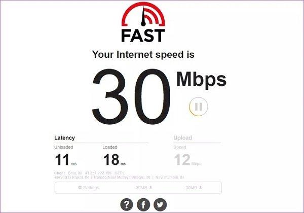 2- سرعة إنترنت منخفضة للغاية