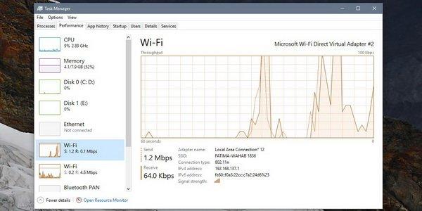 به دست آوردن سرعت اتصال هات اسپات در ویندوز 10