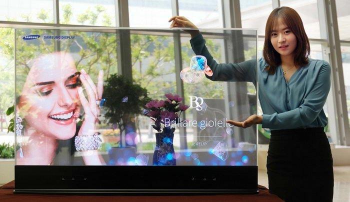 نمایشگر شفاف OLED جدید سامسونگ برای فروشگاههای لباس