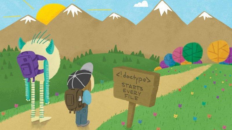 کتاب نقاشی که زبان HTML به کودکان یاد میدهد