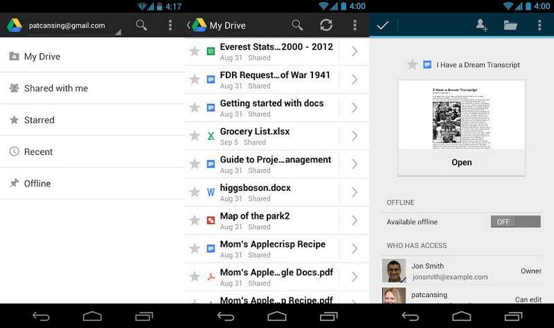 با گوگل درایو آندروید همهچیز در دستان شما است + لینک دانلود