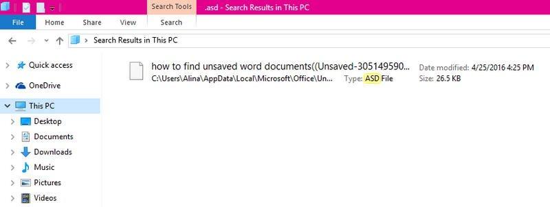 چگونه یک سند ورد ذخیره نشده را در ویندوز 10 پیدا کنیم؟