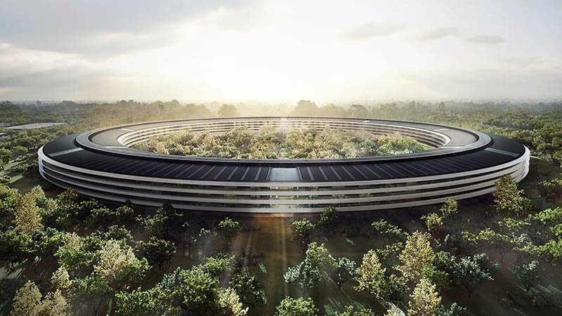 تماشا کنید: جدیدترین ویدیوی هوایی از دفتر مرکزی سفینه فضایی اپل