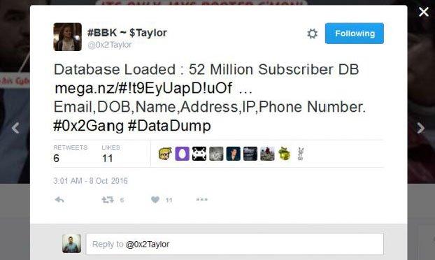 سرقت و فاشسازی اطلاعات 58 میلیون کاربر در توییتر