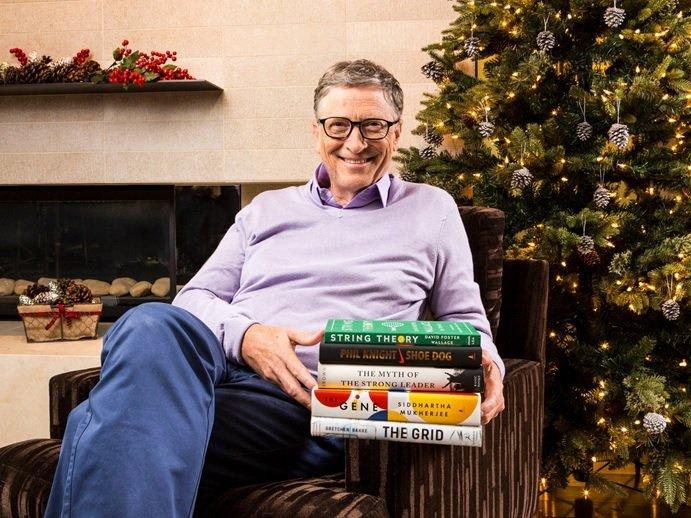 پنج کتاب مورد علاقه بیل گیتس در سال 2016