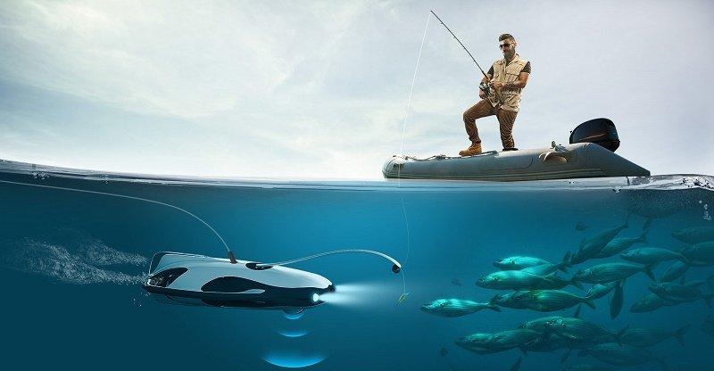 دِرونی که با ثبت فیلمهای 4K در زیر آب ماهی میگیرد