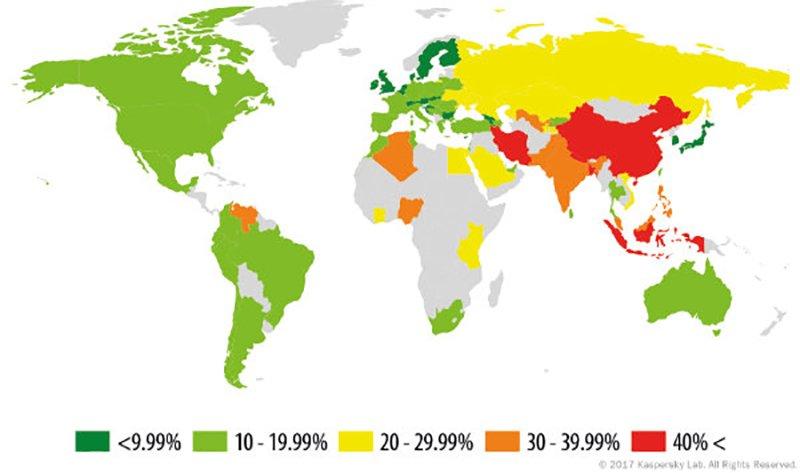 ایران دومین کشور جهان از نظر آلودگی به بدافزارهای موبایلی معرفی شد