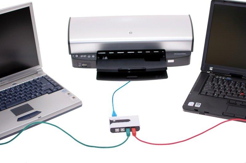 چگونه یک چاپگر را به دو کامپیوتر متصل کنیم