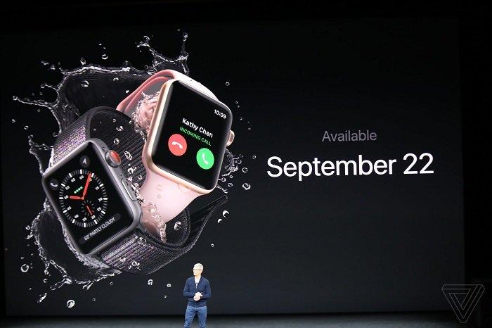 اپل واچ 3 با قابلیت برقراری تماس معرفی شد + عکس