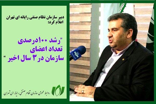 رشد 100درصدی تعداد اعضای سازمان نظام صنفی رایانه ای تهران