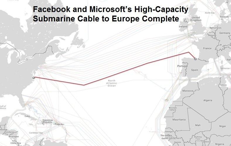 همکاری مایکروسافت و فیسبوک: سریعترین کابل زیردریایی جهان با ظرفیت 160 ترابایت بر ثانیه