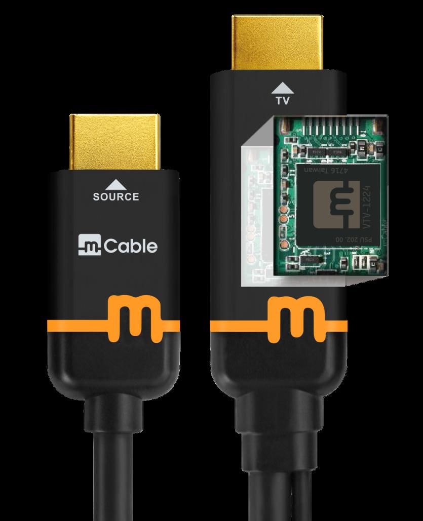 کابل HDMI با تراشه پردازش تصویر