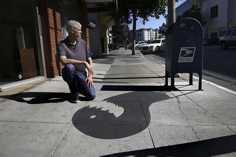 سایه های ساختگی، هنری خیابانی برای سرگرمی و لذت