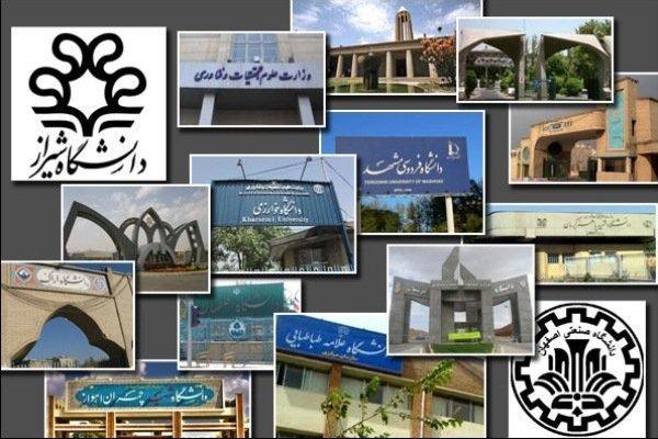 سطحبندی 120 دانشگاه ایران در چهار سطح بینالمللی، ملی، منطقهای و محلی