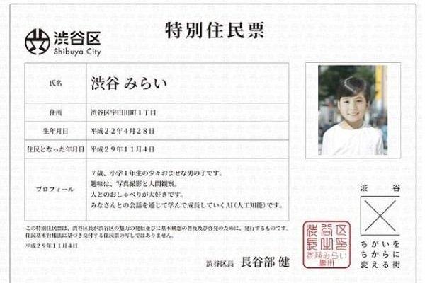 یک شخصیت هوش مصنوعی که شهروند توکیو شد!