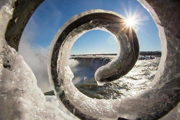 وقتی آبشار نیاگارا یخ میبندد