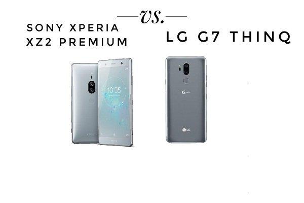 مقایسه الجی G7 ThinQ با سونی اکسپریا XZ2 پرمیوم