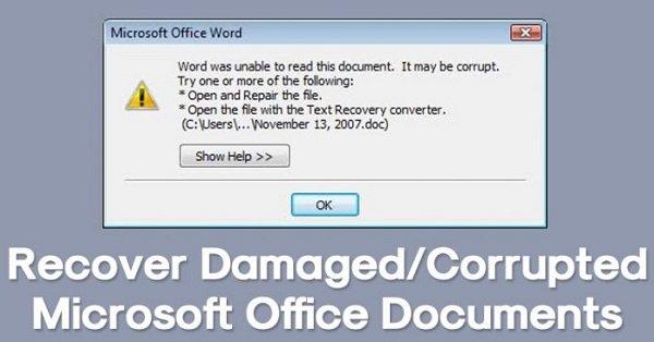 چگونه اسناد آسیبدیده و یا خراب مایکروسافت آفیس را بازیابی کنیم؟
