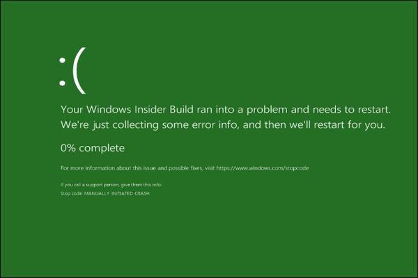 آیا میدانستید که ویندوز 10 یک صفحه مرگ سبز رنگ دارد؟