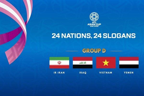 تاریخ و ساعت بازی های ایران در جام ملت های آسیا 2019