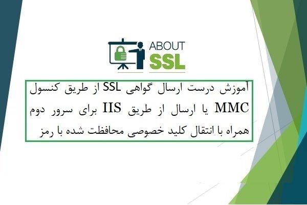 چگونه یک گواهی SSL را برای سرور دیگری در ویندوز سرور 2019 ارسال کنیم؟