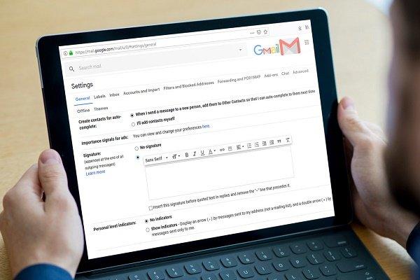 چگونه در جیمیل یک امضای ایمیل با لوگو بسازیم؟