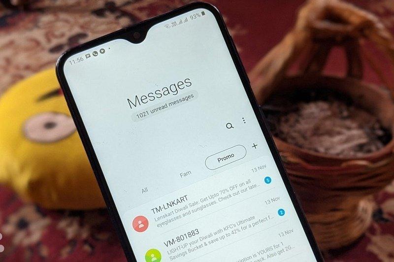 چرا نمیتوانم روی گوشی سامسونگ خود پیامک دریافت کنم؟