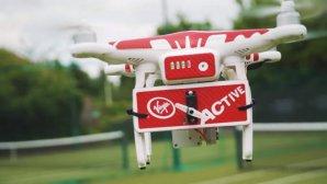تمرین تنیس با یک روبات پرنده ماهر