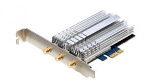 کارت شبکه PCI-E دو بانده برای اتصال به وایفای چند گیگابیتی