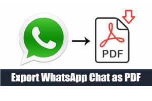 چگونه از چت واتساپ، فایل PDF خروجی بگیریم؟