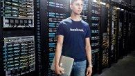 نمایی از طراحی رکها، تجهیزات شبکه و کابلهای مرکزداده فیسبوک در این عکس مشخص هستند.