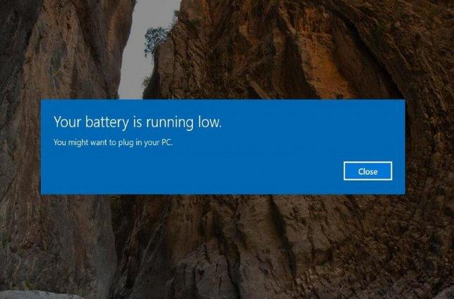 5 راهکار برای کار نکردن اعلان Battery Low ویندوز 10 در لپتاپ
